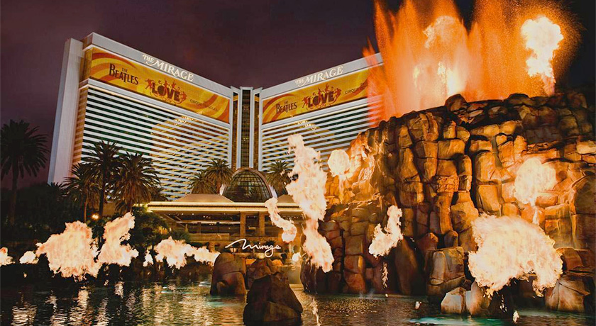 Las vegas hotel famous for dancing fountains codycross